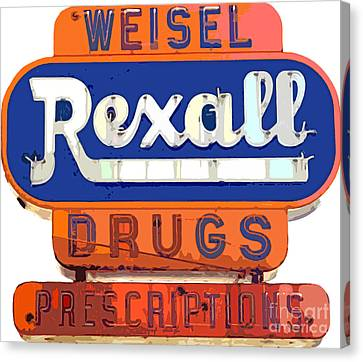 Rexall Drugs Canvas Print by David Lloyd Glover