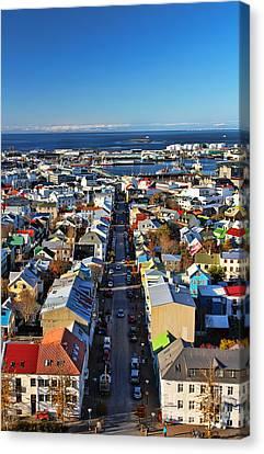 Reykjavik Cityscape Canvas Print by Jasna Buncic