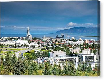 Reykjavik Iceland Panorama Canvas Print by Cliff C Morris Jr