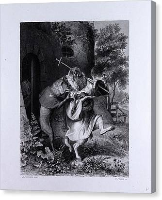 Reynard And Bellin Canvas Print by English School