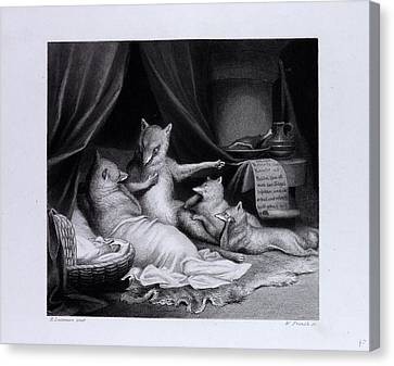 Reynard Relating His Adventures Canvas Print