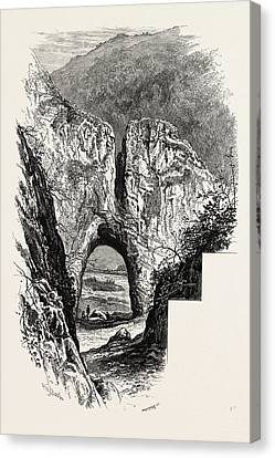 Reynards Cave, Dove Dale, The Dales Of Derbyshire Canvas Print by English School