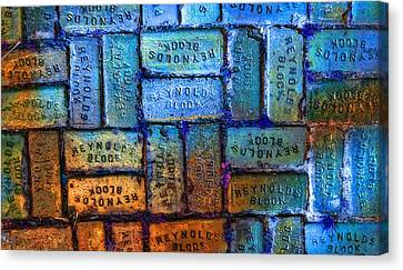 Augustine Canvas Print - Reynolds Blocks - Vintage Art By Sharon Cummings by Sharon Cummings