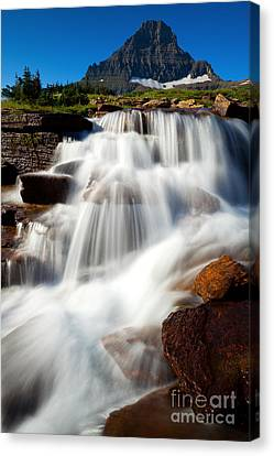 Canvas Print featuring the photograph Reynolds Peak Waterfall by Aaron Whittemore