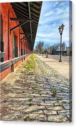 Reynolds Street View - Southern Railway Depot In Augusta Canvas Print by Mark E Tisdale