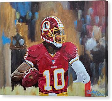 Washington Redskins Rg3 Canvas Print