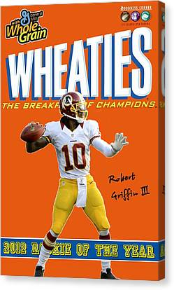 Rg3 Roy Wheaties Box Canvas Print