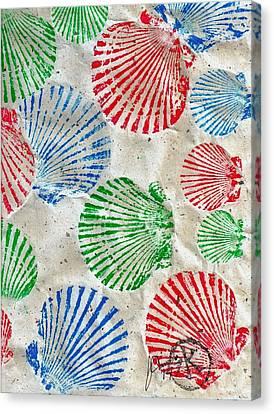 Rgb - Scallop Beach Canvas Print by Jeffrey Canha