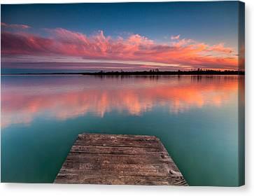 Rgb Sunset Canvas Print by Davorin Mance