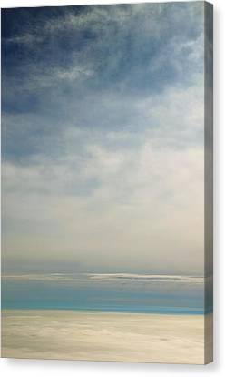 Rhapsody In Blue And White Canvas Print by Steven Richman
