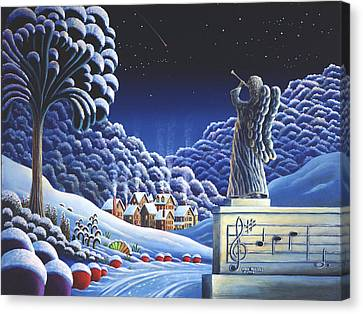 Rhapsody In Blue Canvas Print by Andy Russell