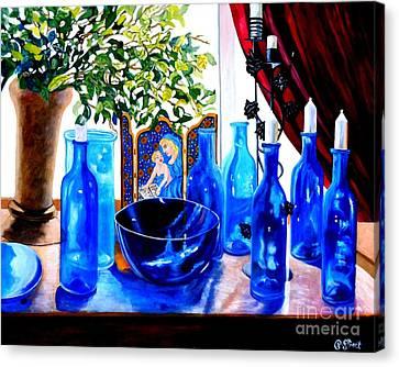 Rhapsody In Blue Canvas Print by Caroline Street