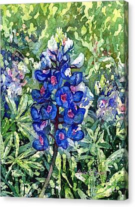 Rhapsody In Blue Canvas Print by Hailey E Herrera