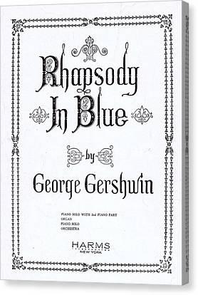 Gershwin Canvas Print - Rhapsody In Blue by Mel Thompson