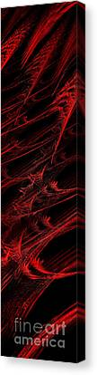 Rhapsody In Red V - Panorama - Abstract - Fractal Art Canvas Print by Andee Design