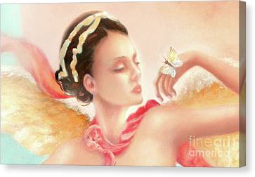 Canvas Print featuring the painting Rhapsody S.e. Print by Michael Rock
