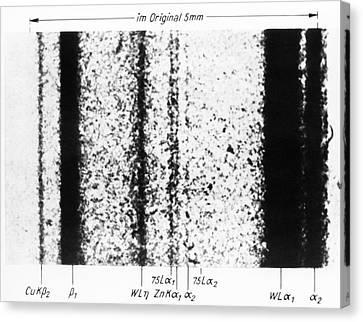 Rhenium Spectral Lines Canvas Print by Emilio Segre Visual Archives/american Institute Of Physics