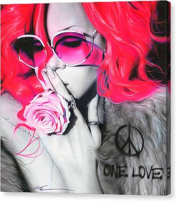 Rihanna Canvas Print - Rihanna by Christian Chapman Art