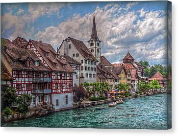 Canvas Print featuring the photograph Rhine Bank by Hanny Heim