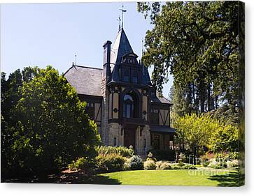 Napa Valley And Vineyards Canvas Print - Rhine House At Beringer Winery St Helena Napa California Dsc1719 by Wingsdomain Art and Photography