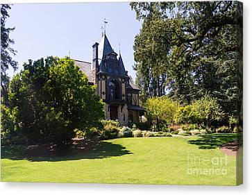 Napa Valley And Vineyards Canvas Print - Rhine House At Beringer Winery St Helena Napa California Dsc1722 by Wingsdomain Art and Photography