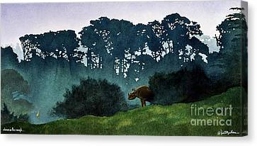 Rhino In The Rough... Canvas Print by Will Bullas