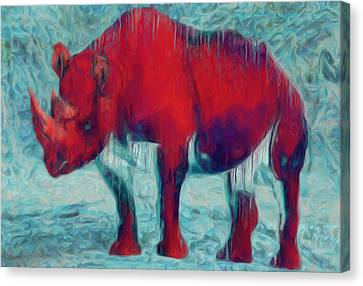Rhino Canvas Print by Jack Zulli