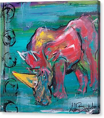 Rhino - Wisdom Canvas Print