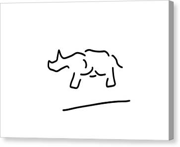 rhinoceros safari Africa Canvas Print