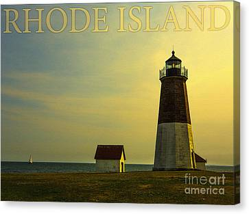 Rhode Island Lighthouse Canvas Print by Diane Diederich