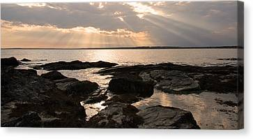 Canvas Print featuring the photograph Rhode Island Sunset by Brooke T Ryan