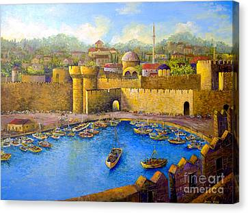 Canvas Print featuring the painting Rhodes by Lou Ann Bagnall