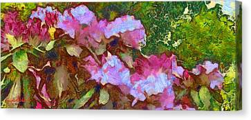 Rhododendron Splash Canvas Print by Spyder Webb