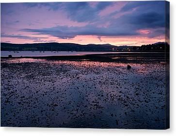 Rhu Marina Sundown Canvas Print by Stephen Taylor