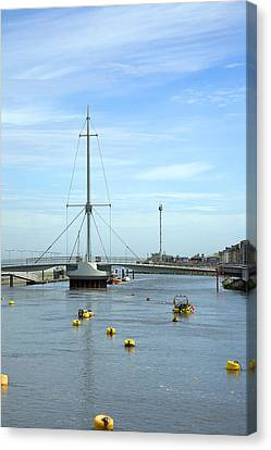 Rhyl Harbour Canvas Print by Christopher Rowlands
