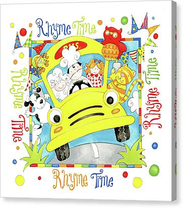 Rhyme Time Canvas Print by P.s. Art Studios