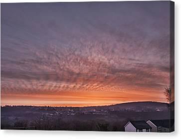 Rhymney Valley Sunrise Canvas Print by Steve Purnell