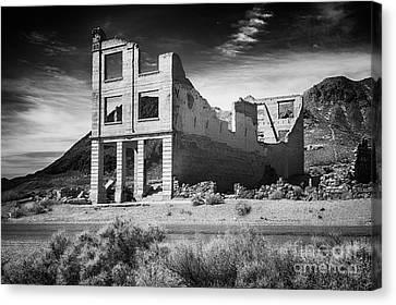 Rhyolite Bank In Death Valley Canvas Print