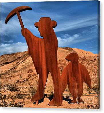 Miners Ghost Canvas Print - Rhyolite Miners by Adam Jewell