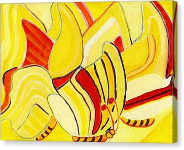 Rhythm Of Butterflies Canvas Print by Olivia  M Dickerson