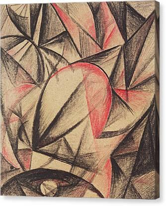 Rhythm Of Forms Canvas Print by Alexander Bogomazov