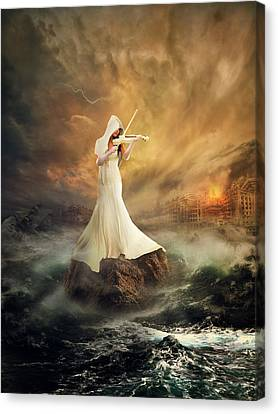 Rhythm Of The Storms Canvas Print by Rooswandy Juniawan