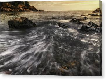 Rhythm Of The Surf - Little Hunters Beach Canvas Print by Thomas Schoeller