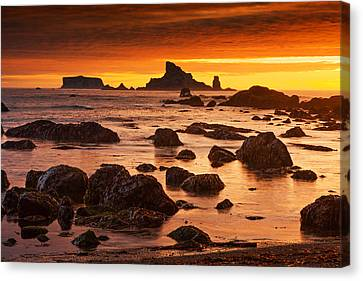 Rialto Beach Sunset Symphony Canvas Print by Mark Kiver