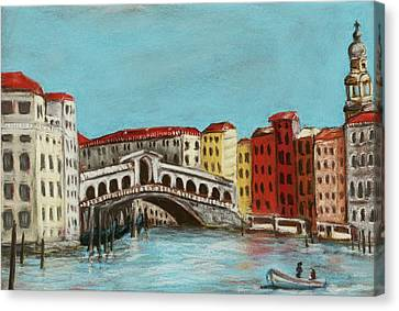 Rialto Bridge Canvas Print by Anastasiya Malakhova