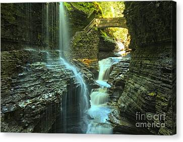 Rainbow Falls Watkins Glen Canvas Print by Adam Jewell