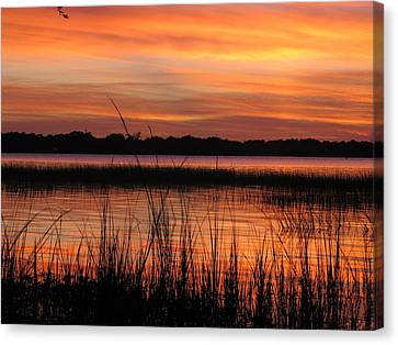 Canvas Print featuring the photograph Ribbon Reflections by Joetta Beauford