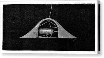 1874 Canvas Print - Ribbon Weaving by Science Photo Library