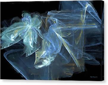 Ribbons And Bows Abstract Canvas Print by Wayne Bonney