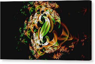 Canvas Print featuring the digital art Ribbons by Lea Wiggins